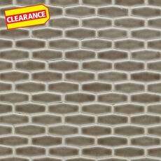 Clearance! Pewter Elongated Hexagon Porcelain Mosaic