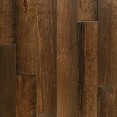 Cyrus Brown Birch Hand Scraped Wire Brushed Solid Hardwood