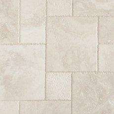 Cascade White Brushed Chiseled Travertine Tile