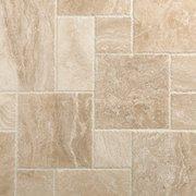 Cascade Cream Brushed Chiseled Travertine Tile