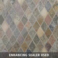 Peacock Diamond Mix Slate Mosaic