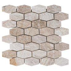 Olympic Beige Hexagon Quartz Mosaic