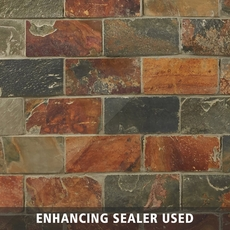 Multicolor Brick Slate Mosaic