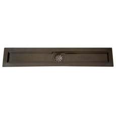 Compotite 24in. Linear Drain Body Black ABS Linear Shower Drain