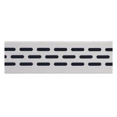 Compotite 36in. Oval Design Stainless Steel Linear Drain Grate