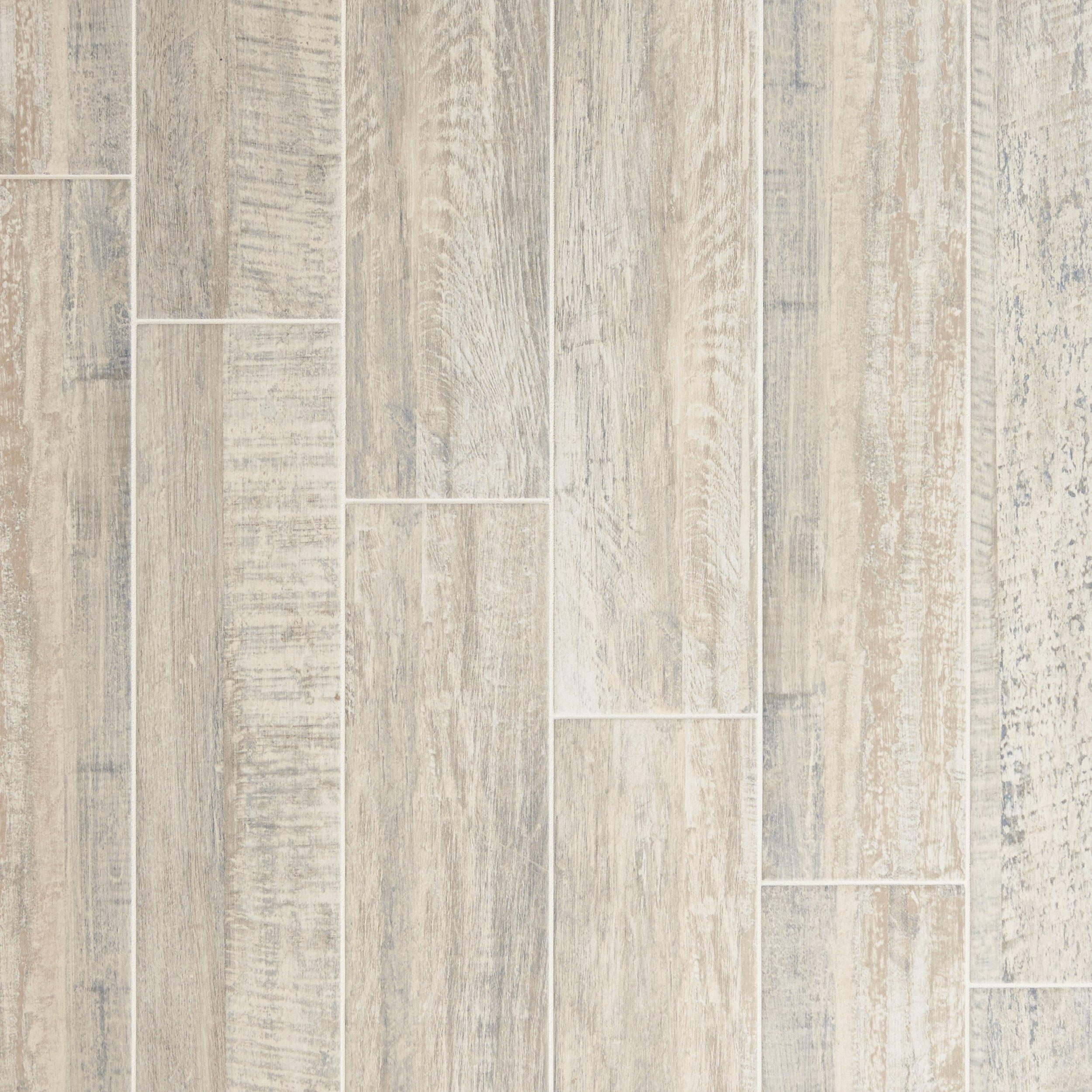 Exceptionnel Pier White Wood Plank Porcelain Tile