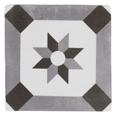Barcelona White and Black Ceramic Tile