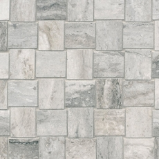 Travertino Grigio Porcelain Mosaic
