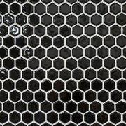 Black Hexagon Porcelain Mosaic