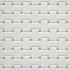 Matte Gray Dot Basketweave Porcelain Mosaic