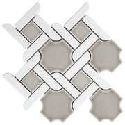 Pewter Lattice Porcelain Mosaic