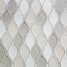 Gray Blend Tear Drop Porcelain Mosaic