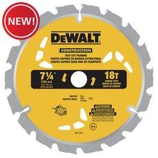 New! DeWalt 7-1/4 in. 18T Thin Kerf Saw Blade