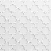 White Quatrefoil Glass Mosaic