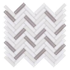Sandhill Herringbone Linear Glass Mosaic