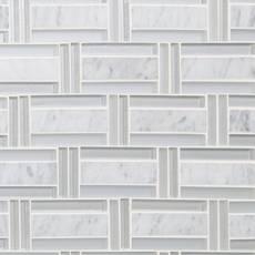 Highline Polished Brick Marble Mosaic