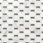 Glamar Octavia Mint Glass Mosaic