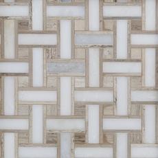 Carrara Collection Valentino Basket Weave Multi Finish Marble Mosaic