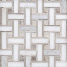 Valentino Basket Weave Polished Marble Mosaic