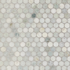 Caribbean Green Penny Polished Marble Mosaic