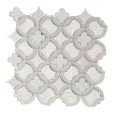 Valentino Quatrefoil Waterjet Glass Mosaic