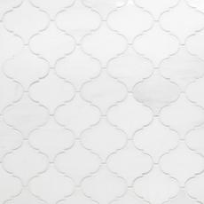 Viviano Marmo Dolomite Arabesque Honed Marble Mosaic