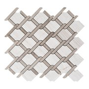 Valentino Lattice Water Jet Cut Marble Mosaic