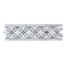 Carrara Flower Marble Border