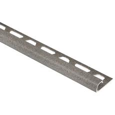 Schluter-RONDEC Inside Corner for 3/8in. PVC Aluminum Stone Gray RONDEC Profile