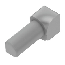 Schluter-RONDEC Inside Corner for 1/2in. PVC Aluminum Classic Gray RONDEC Profile