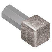 Schluter QUADEC Aluminum Stone Gray 1/2in. Inside/Outside Corner