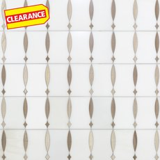 Clearance! Triton Waterjet Marble Mosaic