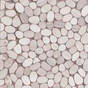 Valentino White Flat Pebblestone Mosaic