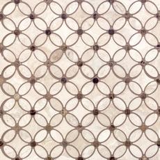 Crema Royal Flower Polished Marble Mosaic