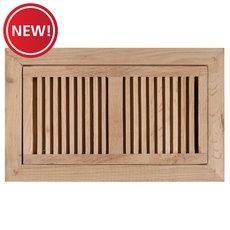 New! White Oak Flush Mount Unfinished Floor Register