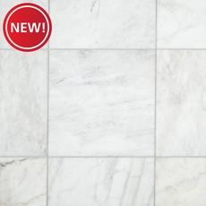 New! Ocean White Honed Marble Tile
