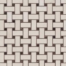 Serene Ivory Basket Limestone Mosaic