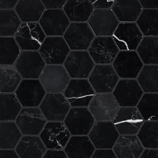 Nero Marble Hexagon Mosaic