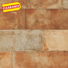Clearance! Terre Rosso Natural Porcelain Tile