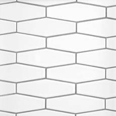 White Hexagon White Body Ceramic Tile