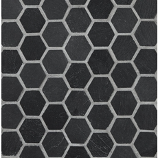 Black Hexagon Slate Mosaic