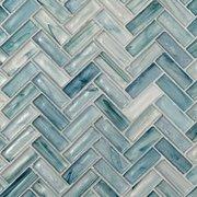 Neptune Herringbone Matte Glass Mosaic
