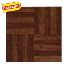 Clearance! Parquet Red Luxury Vinyl Tile