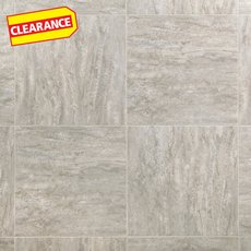 Clearance! Linear Travertine Groutable Vinyl Tile