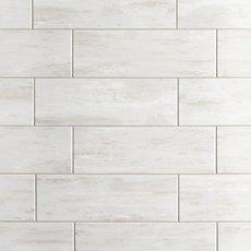 Coastal Beach White Ceramic Tile