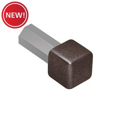 New! Schluter Quadec In/Out Corner 1/4in. Aluminum Dark Anthracite