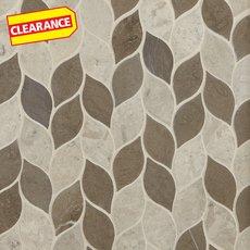 Clearance! Mixed Leaf Limestone Mosaic