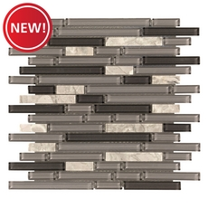New! Montage Chelsea Gray Linear Glass Mosaic
