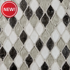 New! Monaco Pewter Glass Mosaic