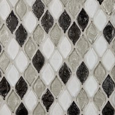 Monaco Pewter Glass Mosaic